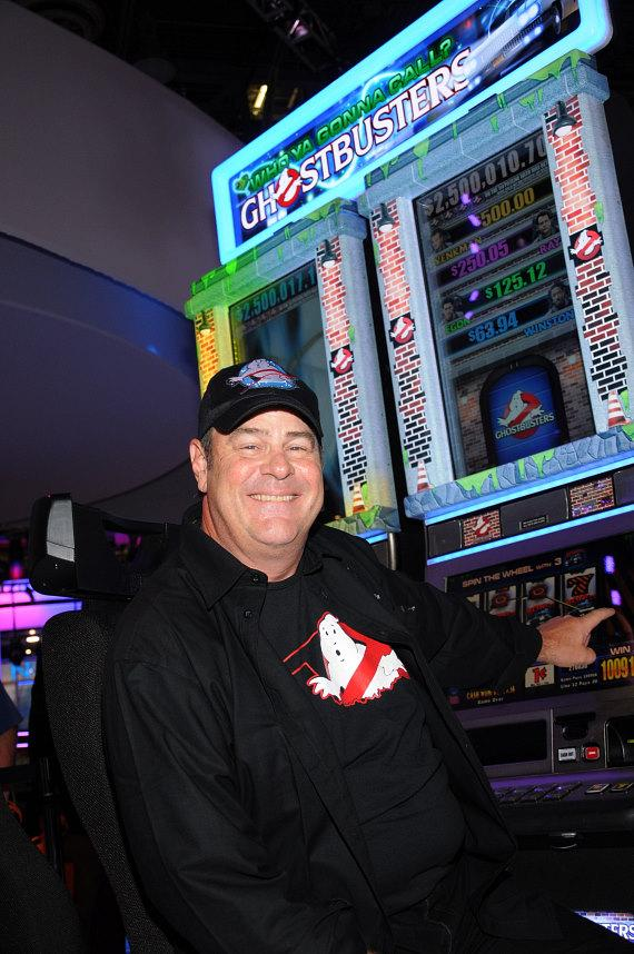 Dan Aykroyd with IGT's new Ghostbusters Who Ya Gonna Call Spinning Reel Slots