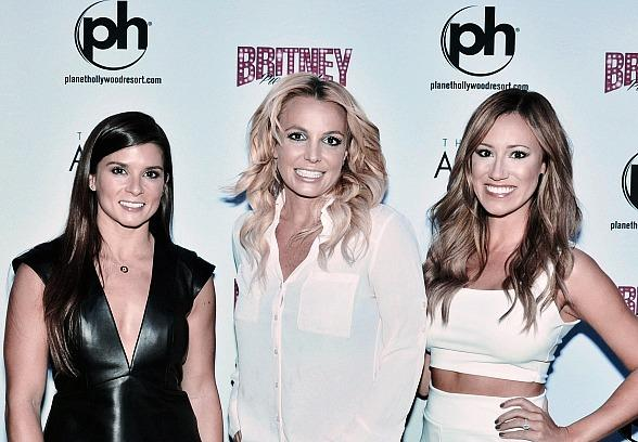 NASCAR's Danica Patrick and Rachel Rupert spotted at Britney: Piece of Me