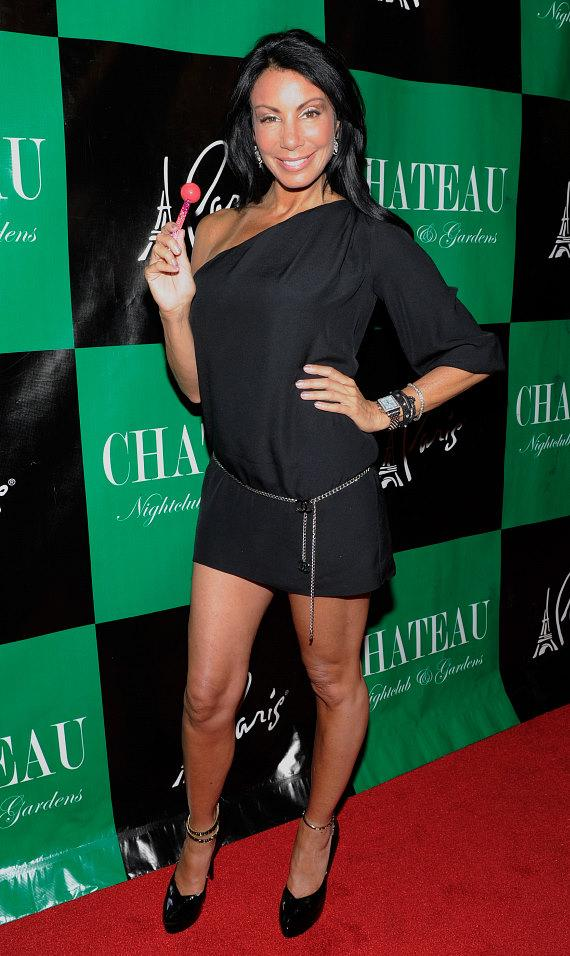 Danielle Staub arrives on the red carpet at Chateau Nightclub & Gardens.