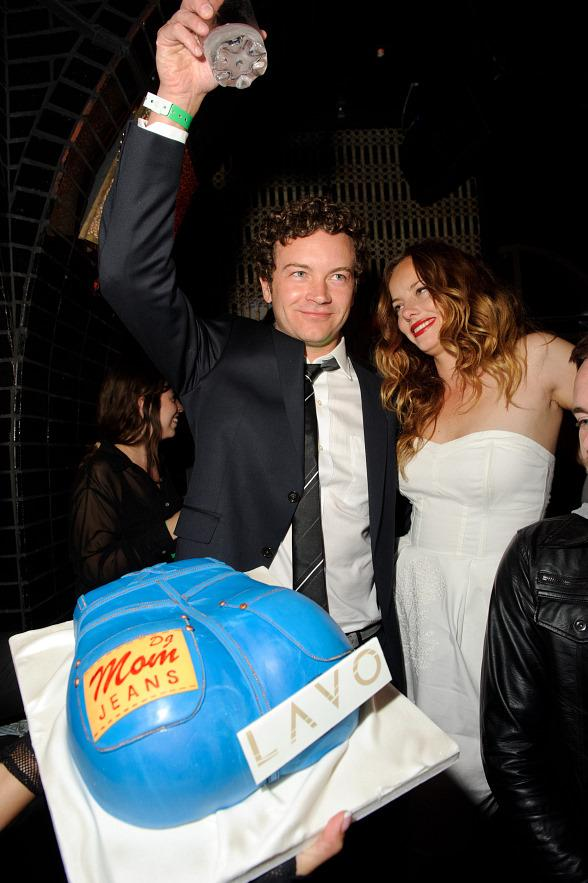 Danny Masterson and Bijou Phillips with cake at LAVO Las Vegas