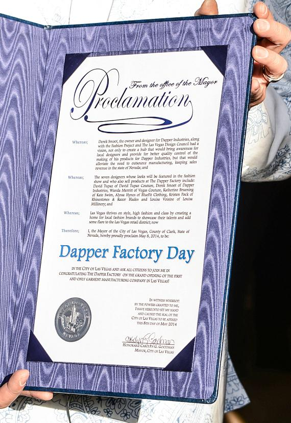 Dapper Factory Day Proclamation