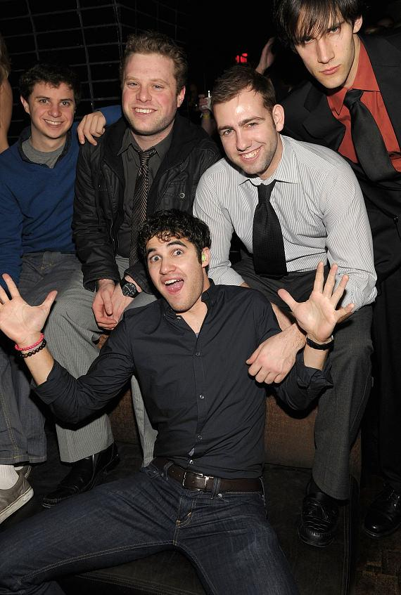 Darren Criss with friends at LAVO