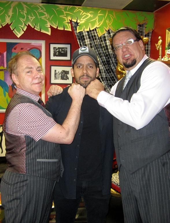 Magician David Blaine with Penn & Teller at Rio All-Suite Hotel & Casino