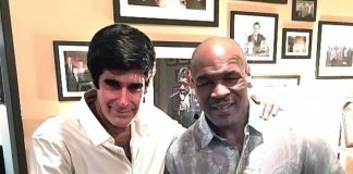 """Illulionist David Copperfield Attends Mike Tyson """"Undisputed Truth Round 2"""" at Brad Garrett's Comedy Club inside MGM Grand"""