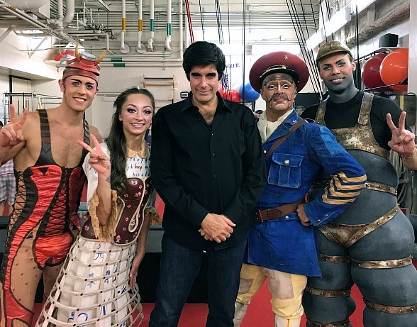 """Illusionist David Copperfield Celebrates Birthday at """"The Beatles LOVE by Cirque du Soleil"""" at The Mirage Hotel & Casino in Las Vegas"""