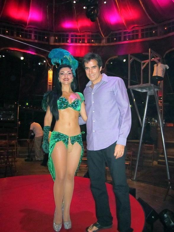 David Copperfield and Melody at ABSINTHE