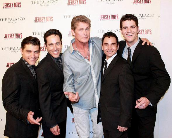 From L to R: Deven May, Jeff Leibow, David Hasselhoff, Travis Cloer, Peter Saide
