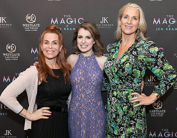 Westgate Vice President of Marketing and Entertainment Dawn Rawle, Magician Jen Kramer, and Westgate President and General Manager Cami Christensen