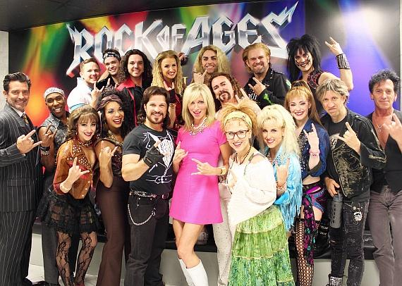 Debbie Gibson with Rock of Ages cast