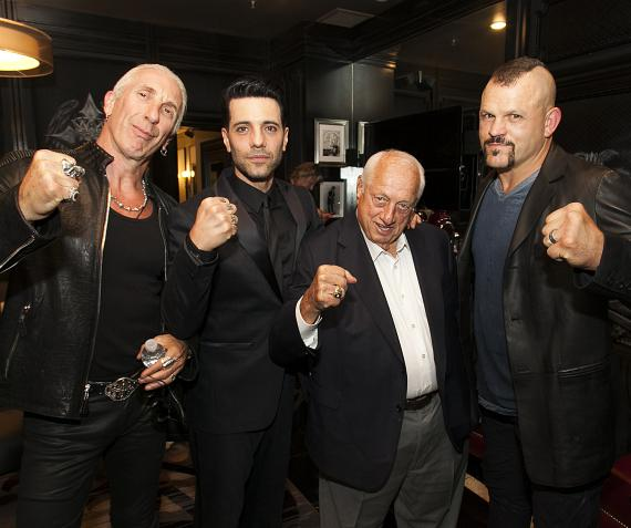 """Dee Snider, Criss Angel, Tommy Lasorda and Chuck Liddell at Criss Angel """"HELP"""""""