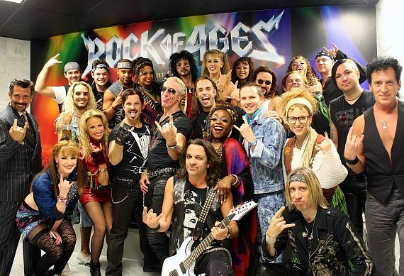 Dee Snider with full cast of Rock of Ages