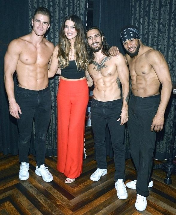 """Australian Singer and Coach of the Voice Australia Delta Goodrem Stops by """"Magic Mike Live Inside the Hard Rock Hotel & Casino in Las Vegas"""