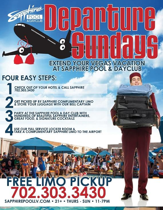Now you can extend your Vegas vacation! Departure Sundays