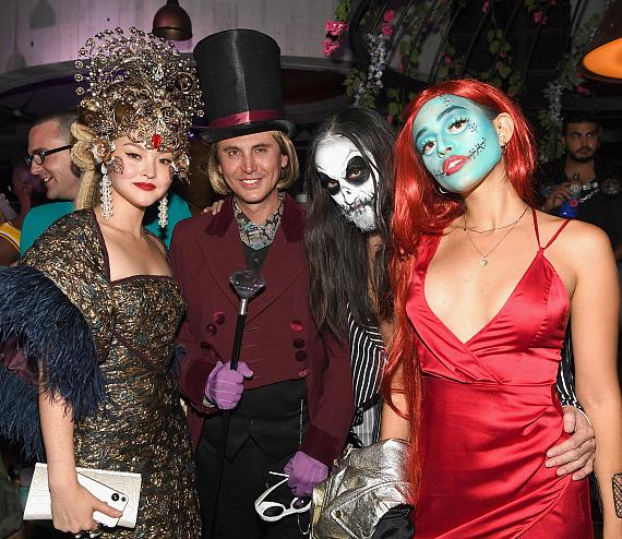 George Clooney, Cindy Crawford, Kendall Jenner at CATCH Las Vegas' Grand Opening with Casamigos Halloween Party
