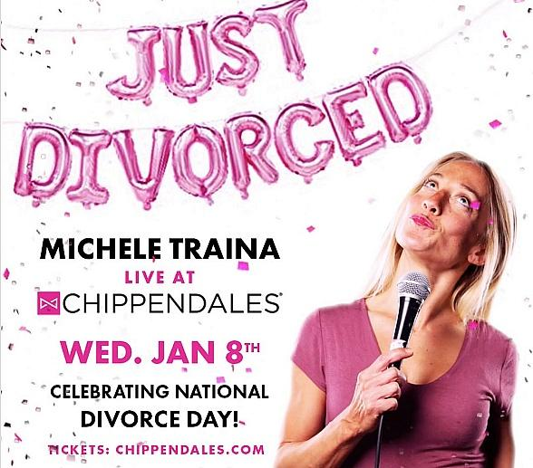 """Celebrate 'National Divorce Day' With Chippendales & Special Guest Michele Traina, Comedian and Star of """"Divorce Diaries"""" January 8, 2020, at Rio All-Suite Hotel & Casino"""
