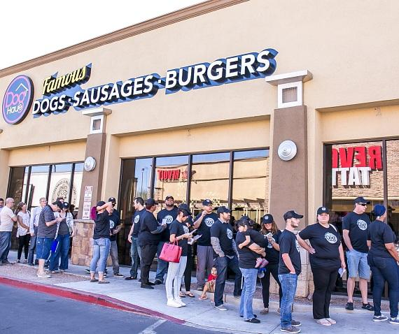 DogHaus Grand Opening Line
