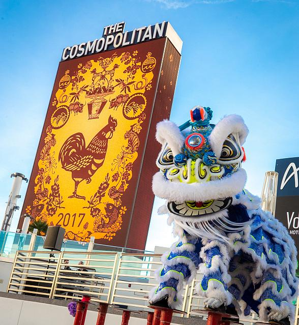 The Cosmopolitan of Las Vegas Unveils New Digital Art Display for This Year's Chinese New Year Celebration
