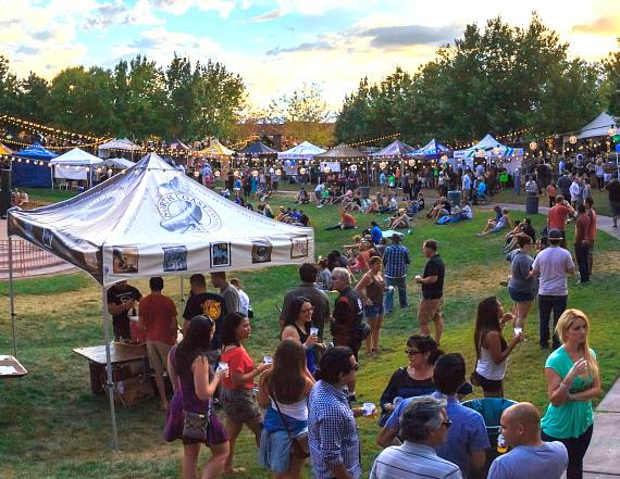 Thousands of festival-goers flock to the Clark County Amphitheater for the 2014 Downtown Brew Festival hosted by Motley Brews