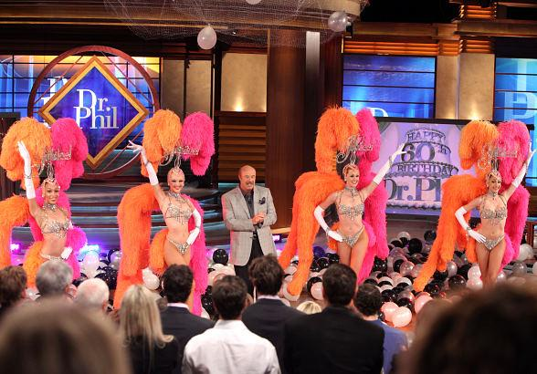 Jubilee! Showgirls Lend Glamour to Dr. Phil's 60th Birthday