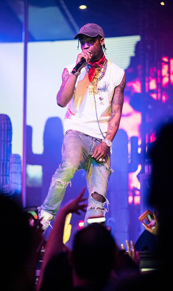 Travis Scott performs at Drai's Nightclub