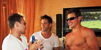 Drew Lachey, Jeff Timmons and Nick Lachey at TAO Beach