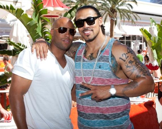 Nick Barnett of Green Bay Packers at Encore Beach Club