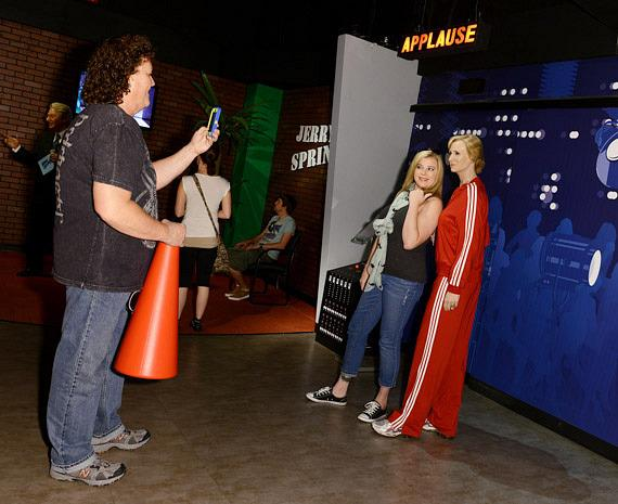 Dot Marie Jones of Glee unveils TV ZONE at Madame Tussauds
