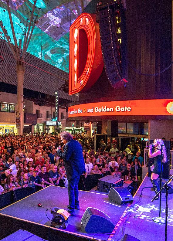 Eddie Money performs during Downtown Rocks on Fremont Street Experience