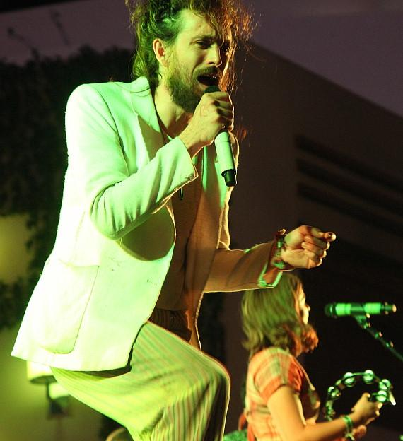 Edward Sharpe and the Magnetic Zeros plays the Boulevard Pool at The Cosmopolitan of Las Vegas