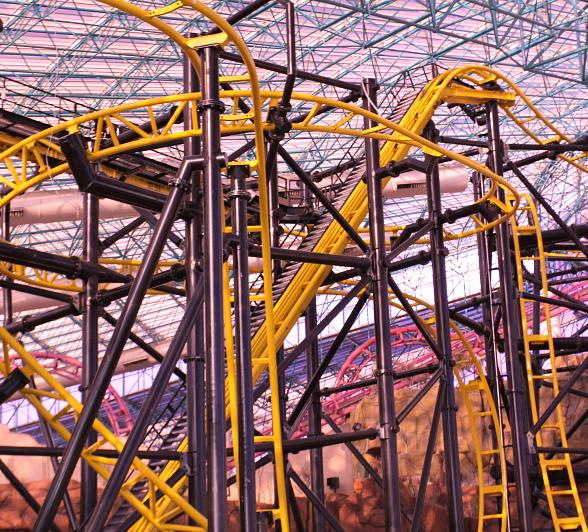 El Loco Gets Ready to Roll at The Adventuredome at Circus Circus