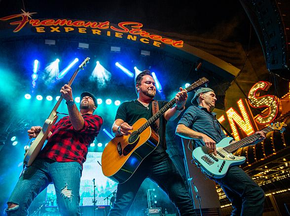 Eli Young Band Delivers Booming Performance at Fremont Street Experience During