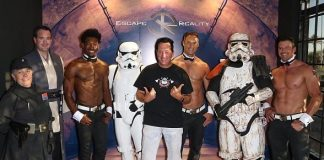 "Spotted at ""Escape Reality"" in Las Vegas: Kendra Wilkinson, Jai Rodriguez, Anthony Cools, Frankie Moreno, Lacey Schwimmer, Chippendales and Ricardo Laguna"