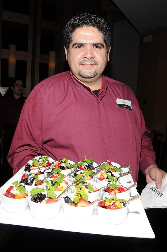 """Server at """"Ultimate FANTASY"""" calendar party in Rice & Company at Luxor"""