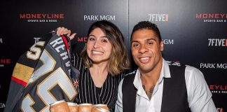 Ryan Reaves Helps Relaunch Moneyline Sports Bar & Book at Park MGM in Las Vegas