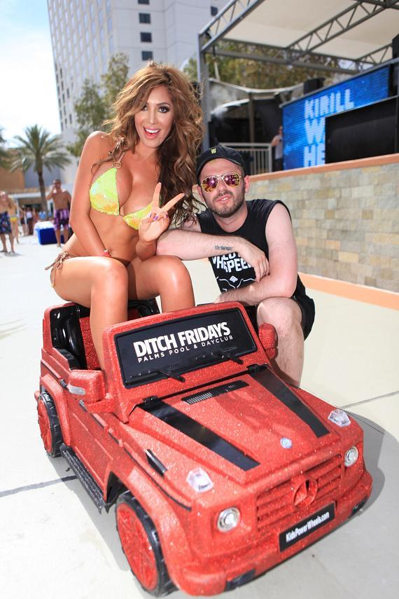 Farrah Abraham Lets Loose at Ditch Fridays at Palms Pool & Dayclub in Las Vegas