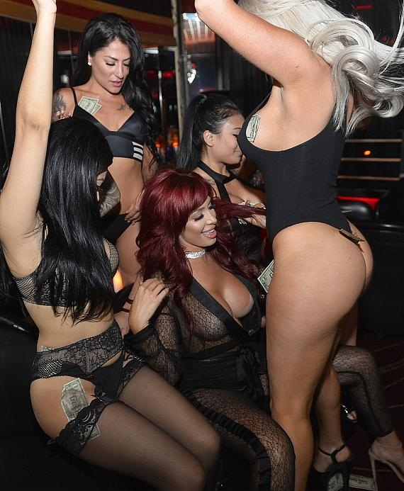 Farrah Abraham getting a lap dance at Crazy Horse III in Las Vegas