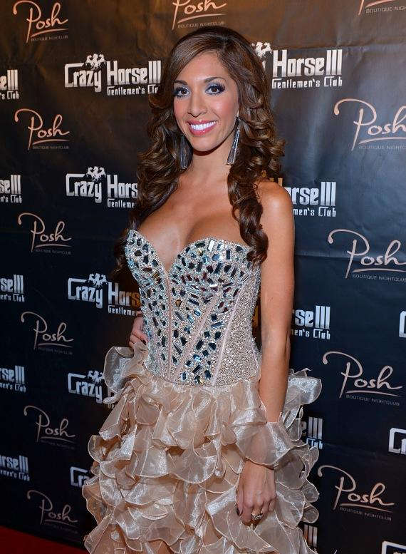 """Farrah Abraham with signed """"Back Door Teen Mom"""" DVD at Crazy Horse III"""