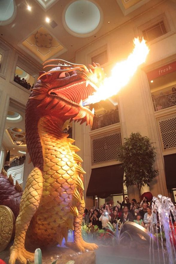 Dragon fire at The Palazzo