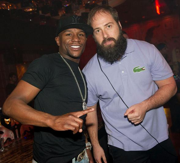 Floyd Mayweather and DJ Fred Matters at Marquee