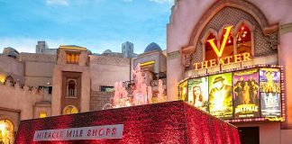 Miracle Mile Shops' Fountain Glows Red for American Heart Association This January and February