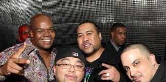 Frank Thomas (far left) and friends