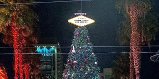 Fremont Street Experience celebrates the holiday season with Las Vegas' official Christmas tree lighting