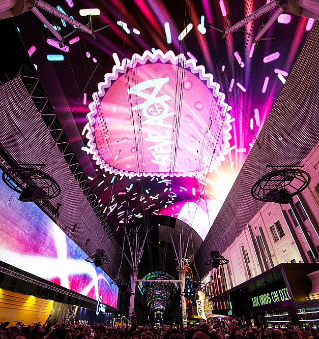 Steve Aoki Celebrates Worldwide Premiere of New Viva Vision Light Show at Fremont Street Experience