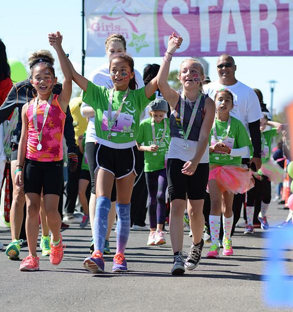 "450 Girls have a Run-In with Empowerment at ""Girls on the Run 5K"" at Kellogg Zaher Sports Complex April 17"