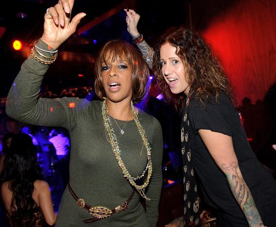 Gayle King and Deb Grimmel at Marquee