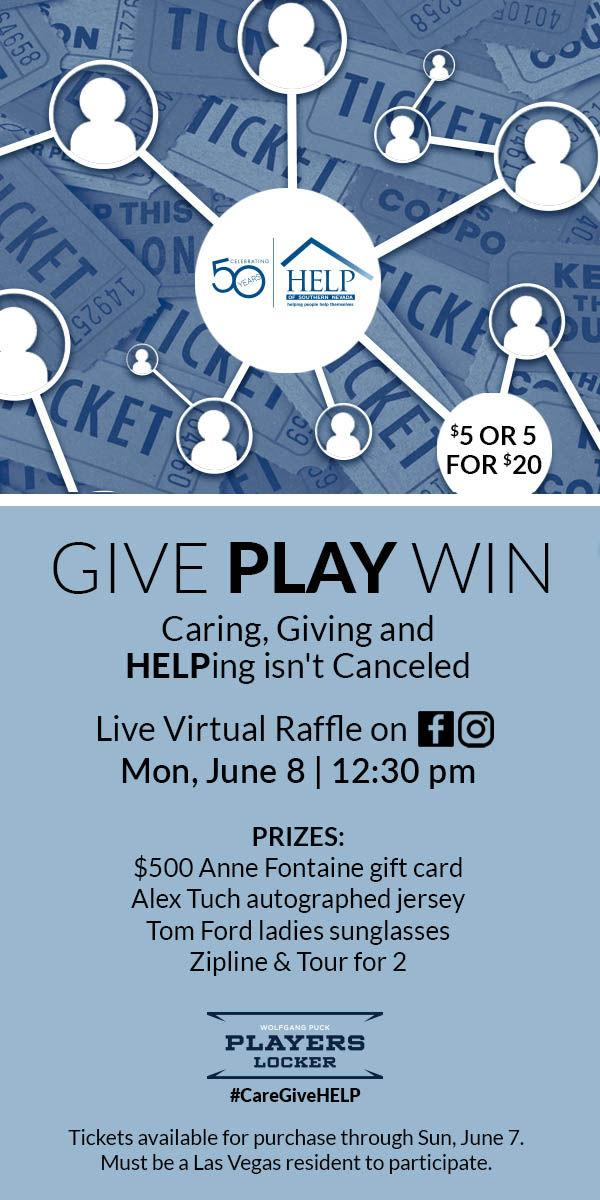 HELP of Southern Nevada to Host Virtual Raffle on Monday, June 8