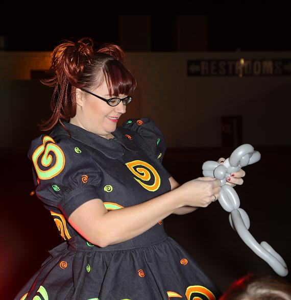 Tawny Bubbles provided entertainment for the kids