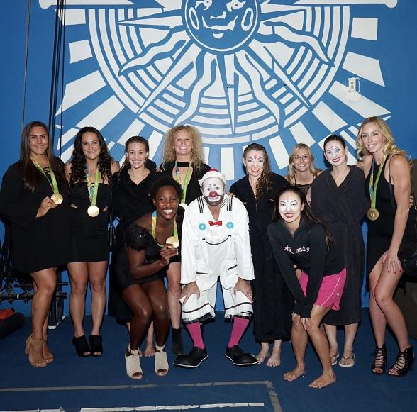 "Rio Olympic medalist Cody Miller at ""O"" by Cirque du Soleil; Gold-winning Water Polo Team also in Attendance"