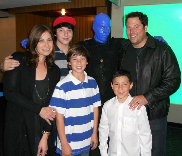 Greg Grunberg and family at Blue Man Group Las Vegas