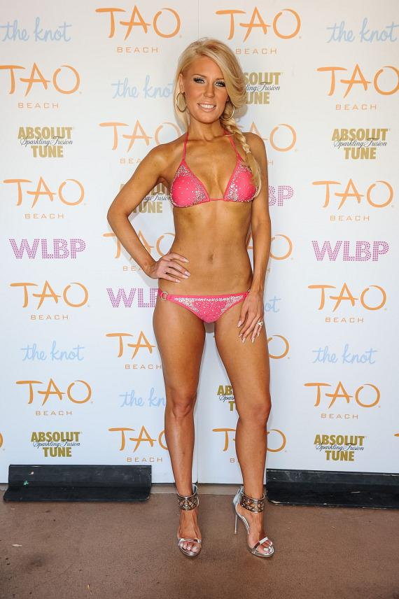 Gretchen Rossi on red carpet at TAO Beach